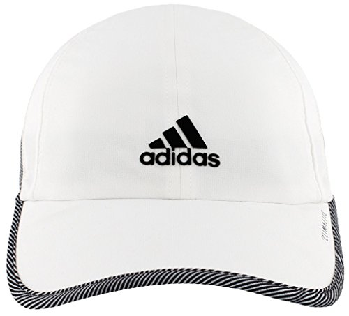 - adidas Women's Superlite Relaxed Adjustable Performance Cap, White/Optic Stripe, One Size