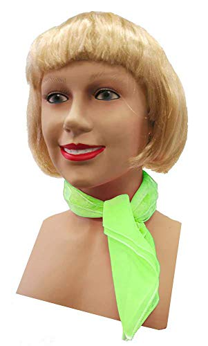 Candy Apple Costumes 1950's Style Chiffon Scarf (Lime Green)
