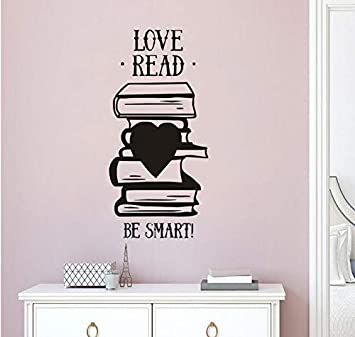 OK TO BE SMART Book Reading Vinyl Decal Sticker A