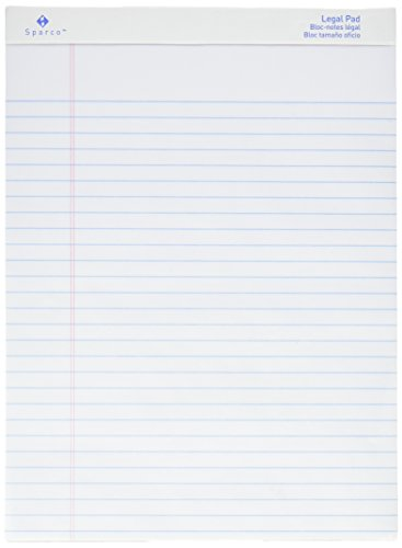 Sparco Pad, Micro-Perforated, Wide Ruled, 50 Sheets, 8-1/2 x 11-3/4 Inches, 12/DZ, WE (SPRW2011)