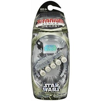 Star Wars, Titanium Series Die-Cast, Clone Turbo Tank (Arctic), 3 Inches