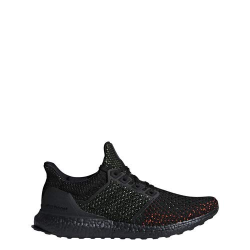 adidas Men's Ultraboost Running Shoe, Black/Solar red, 10 M US ()