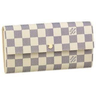 Louis Vuitton Damier Azur Sarah Cartera n61735 incluye protector contra el polvo y fabricantes FECHA código