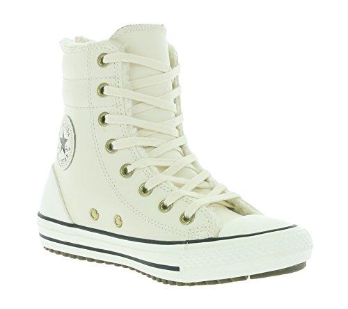 Converse Chucks Kinder Winter Stiefel 653389C CT AS Hi Rise Boot Beige Parchment Black Egret blanco roto