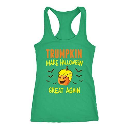 Womens Trumpkin Make Halloween Great Again Racerback Tank Top -