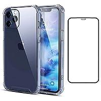 Capinha Compatível com iPhone 12 Pro Anti-Shock + Película 3D Vidro Cobertura Total [Coronitas Acessorios]