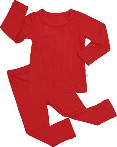 Easy Homemade Toddler Costumes (AVAUMA Baby Boy Girl Long Sleeve Ribbed Pajamas Set Snug-Fit Fall Winter Pjs Sleepwear Kids Toddler)