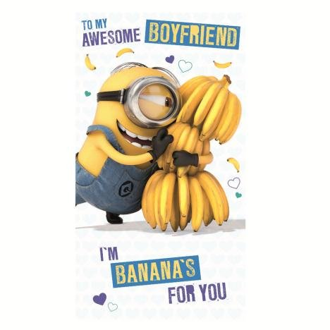 Awesome Boyfriend Minions Birthday Card Amazoncouk Toys Games