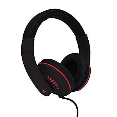 Audio Council Cypher Stereo Over-Ear Headphones (Black/Red)