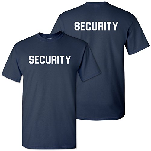 UGP Campus Apparel Security, Bouncer - Event Safety, Military, Law, Officer, Guard - Adult Cotton T-Shirt - Large - ()