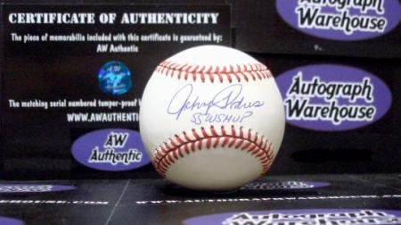 Johnny Podres Autographed Ball - inscribed 55 WS MVP World Series Hero 1955 NL - Autographed Baseballs - 1955 World Series Mvp