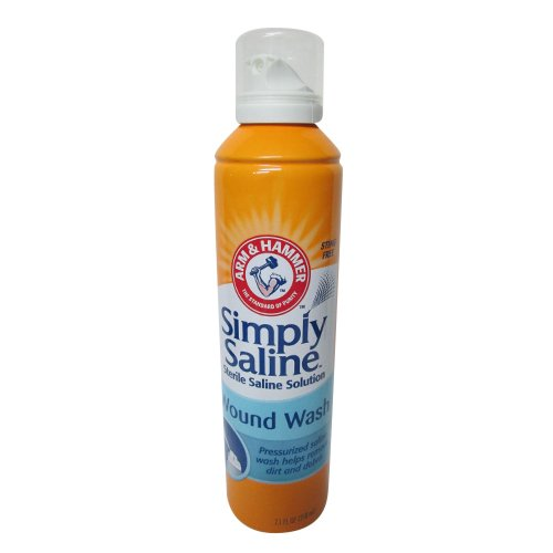 Arm & Hammer Simply Saline Wound Wash Helps Remove Dirt And Debris, 7.1 Fl Oz (Pack of 4) (Normal Saline)
