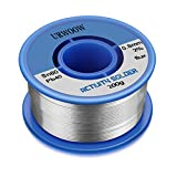 URWOOW Solder Wire Tin Lead Rosin Core Flux Iron Welding Tool 60/40 0.031'' Diameter 7oz Roll Packed For Electrical and Electronics DIY Work (0.8mm 200g)