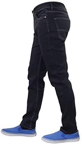 Fly Hombres Stretch Pantalones Slim Fit New de Pantalones algodón G72 Jeans Denim Zip Grey RBnt5T