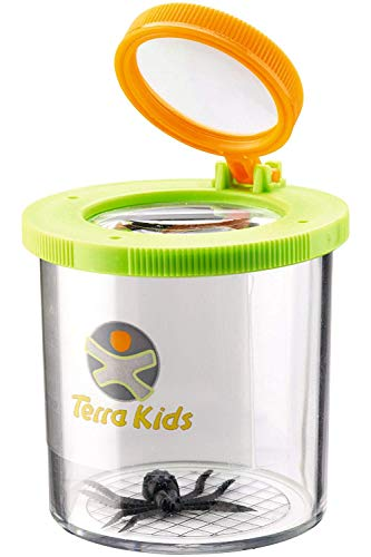 HABA Terra Kids Beaker Magnifier Clear Bug Catcher with two Magnifying Glasses for Nature Exploration