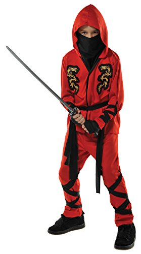 Children's Fire Dragon Ninja Costume Size Large (12-14)