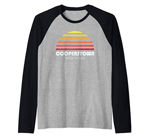 Cooperstown Shirt - Sunset New York Cooperstown Raglan Baseball Tee