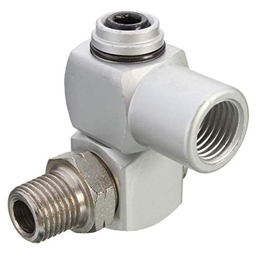 OKIl 1/4Inch BSP Standard Thread Air Connector Fitting Universal Joint Adapter