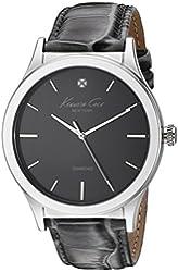 Kenneth Cole New York Men's 10025947 Genuine Diamond Analog Display Japanese Quartz Grey Watch