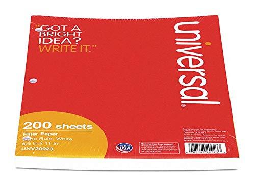 Filler Paper, 8-1/2 x 11'' Sheet Size - pack of 5