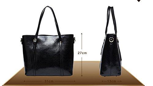 Bolso Simple De GWQGZ Cómodo Bolso College Simple Moda Y Lady Gules Estilo Black Único Nuevo Aire xExqPIpA