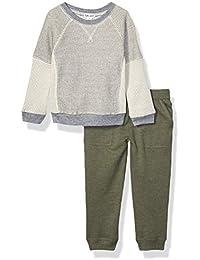 Splendid Boys Long Sleeve Pant Set, Light Gray Heather - Toddler, 2T
