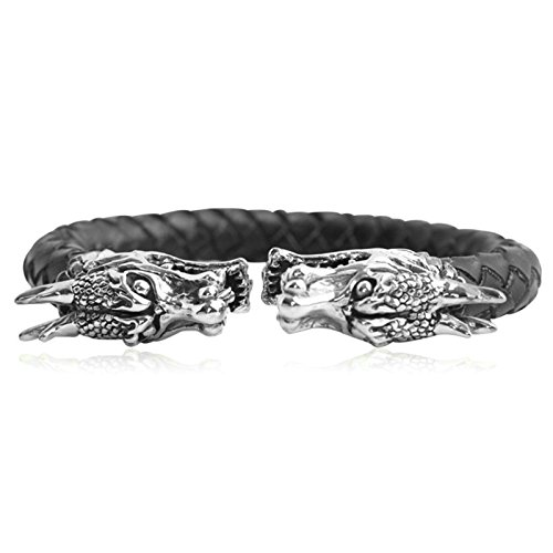 Daesar 925 Silver Bracelet For Men Faucet Opening Bracelet Black by Daesar