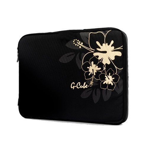 Laptop Sleeve, G-Cube Golden Aloha Collections 15' Laptop Bag Black Color with Golden Aloha hibiscus, Great for your 15inch laptop, easy and light weight - India Tiffanys