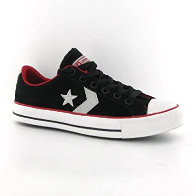 Converse Star Player Ev Ox Black Suede Mens Trainers: Amazon