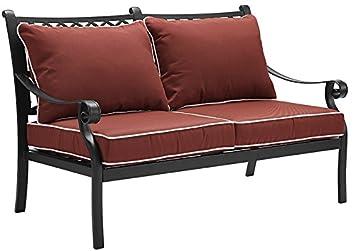 Surprising Crosley Furniture Portofino Outdoor Aluminum Loveseat With Cjindustries Chair Design For Home Cjindustriesco