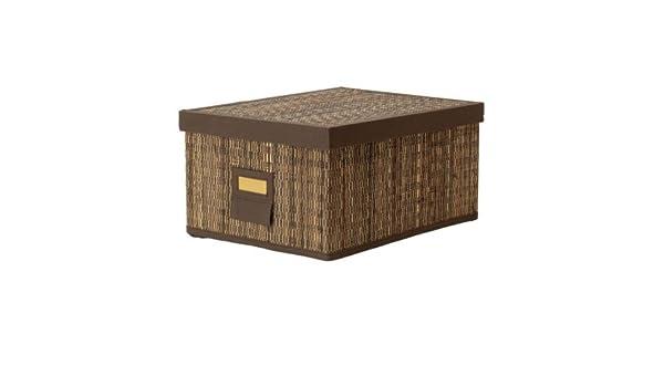 IKEA MOTORP - Caja con tapa, hoja de palma - 28x35x18 cm: Amazon ...