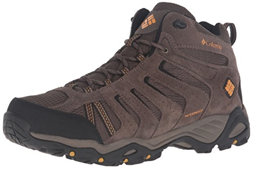 Columbia Men's North Plains II Waterproof MID Hiking Boot, Mud, Squash, 11.5 D US