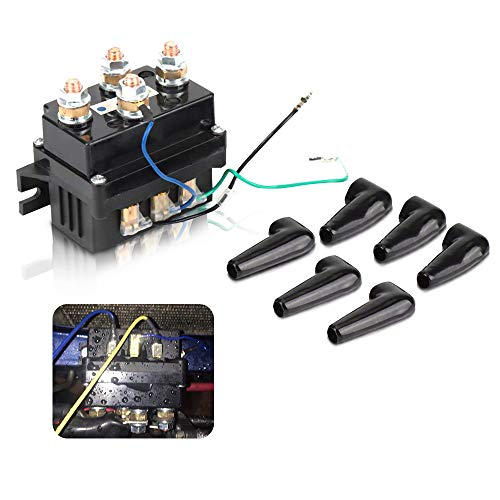 Issyzone 12V 500A Universal Winch Relay, Winch Solenoid Contactor Replacement for ATV UTV 6000lbs-12000lbs 4X4 Winch Boat