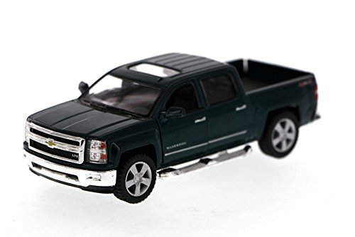 2014 Chevy Silverado Pick-up Truck, Green - Kinsmart 5381D - 1/46 Scale Diecast Model Toy Car