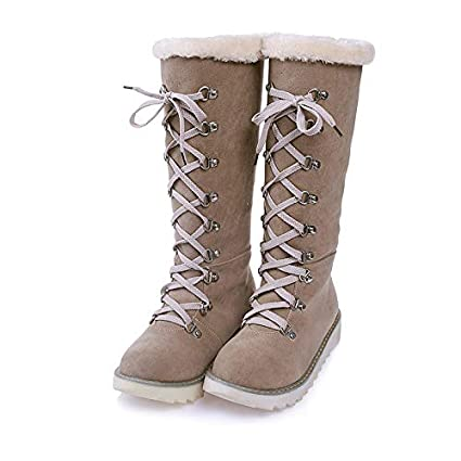 Botas para Mujer ZARLLE Retro Otoño Invierno Mujer Genuina Piel De Oveja Australiana Cuff Invierno Nieve Impermeable Zapatos Long Botas Cuero para Mujer ...