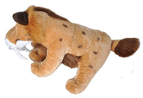 "4126Y7hFpKL - Wild Republic Jumbo Smilodon Plush, Giant Stuffed Animal, Plush Toy, Gifts for Kids, 30"""