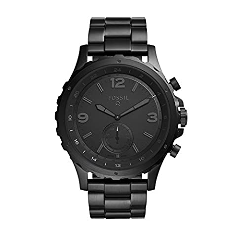 Fossil Q Nate Gen 2 Men's Black IP Stainless Steel Hybrid Smartwatch FTW1115 (Fossil Watchs Nate)