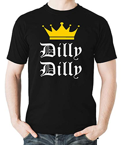 763ca2a3 Witty Fashions Dilly Dilly Funny Beer King Drinking Crown Graphic Men's T- Shirt (Black