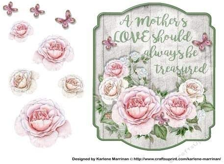 Wooden Plaque Mothers Day Card Topper by Karlene Marrinan