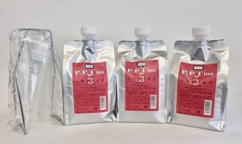 コラーゲン・ケラチン蛋白配合「PPT 5セコンズチャージ トリートメント」 (1000ml ×3個徳用!【ポンプ・スタンド1個付】(大))