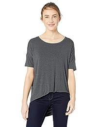 Daily Ritual Womens Standard Jersey Rib Trim Drop-Shoulder Short-Sleeve Scoop Tunic