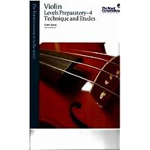 Violin Series, 2013 Edition - Technique & Etudes Preparatory-4