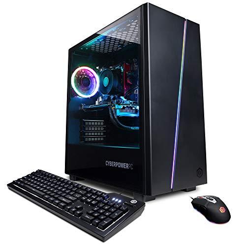 CYBERPOWERPC Gamer Master Gaming PC, AMD Ryzen 5 3600 3.6GHz, GeForce RTX 2060 6GB, 8GB DDR4, 240GB SSD, 1TB HDD, WiFi, Ready & Win 10 Home (GMA2130CC, Black)