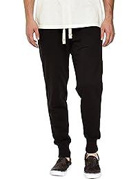 Mrignt Mens Casual Cotton Elastic Waist Jogging Pants