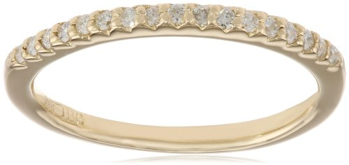 14k Yellow Gold Diamond ''Stackable'' Band, Size 6 by Amazon Collection