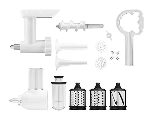 KitchenAid KSMGSSA Mixer Attachment Pack, White - smallkitchenideas.us