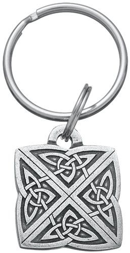 Key Celtic - DANFORTH - Celtic Knot Keyring - 1 1/4 Inches - Pewter - Key Fob - Handcrafted - Made in USA