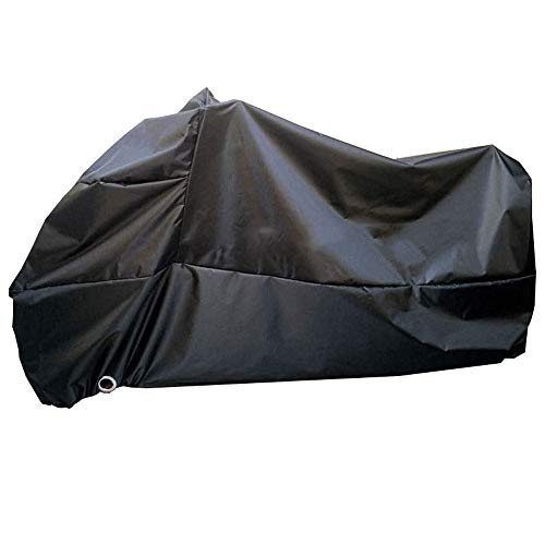 ZZKJTANGYMTT Motorcycle Covers for Outside Storage, Oxford Cloth, Electric Car Clothing, Rain, Sun Protection, Dustproof, Camouflage, Anti-Theft Lock Hole, Four Seasons Universal,Black-XXXL