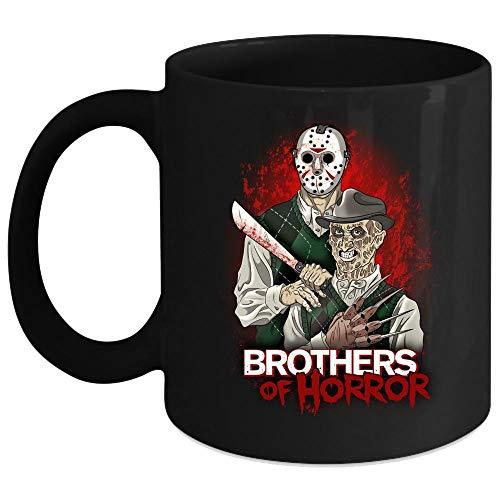 (Funny Freddy Krueger and Jason Voorhees Cup, Brothers Of Horror Mug (Coffee Mug 11 Oz -)