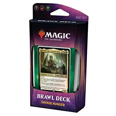 Magic The Gathering Throne of Eldraine Savage Hunger Brawl Deck WOCC67460000-HUN: Toys & Games